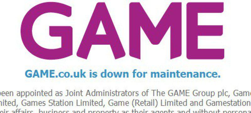 Web de GAME Reino Unido