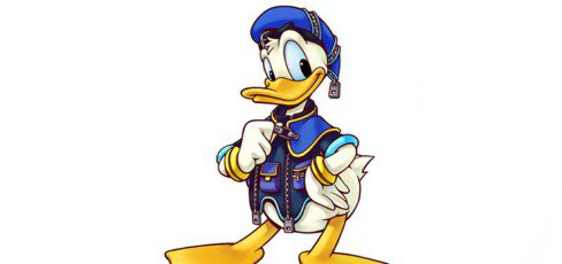 El pato Donald diseñado por Tetsuya Nomura