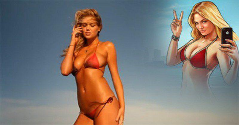 Kate Upton es la chica del bikini en 'GTA V'